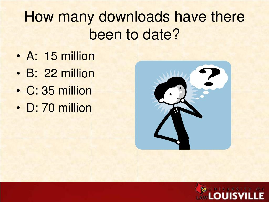 How many downloads have there been to date?
