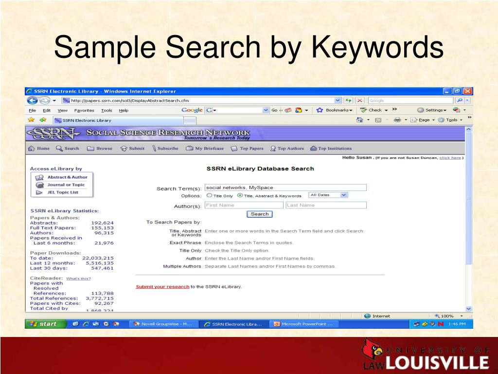 Sample Search by Keywords