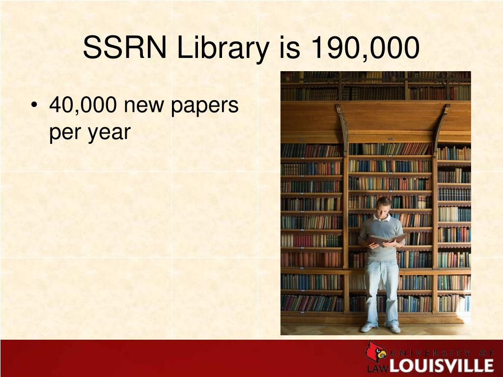 SSRN Library is 190,000