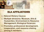 sla affiliations
