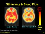 stimulants blood flow