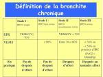 d finition de la bronchite chronique