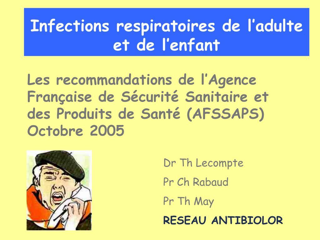 infections respiratoires de l adulte et de l enfant l.