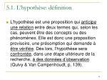 5 1 l hypoth se d finition54