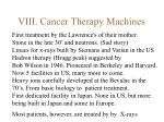 viii cancer therapy machines