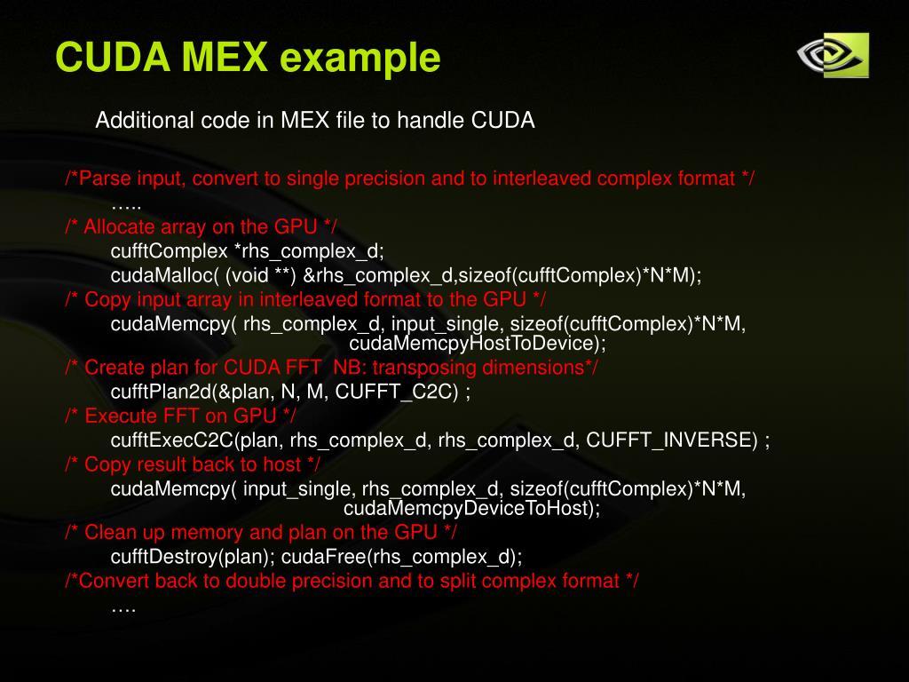 CUDA MEX example