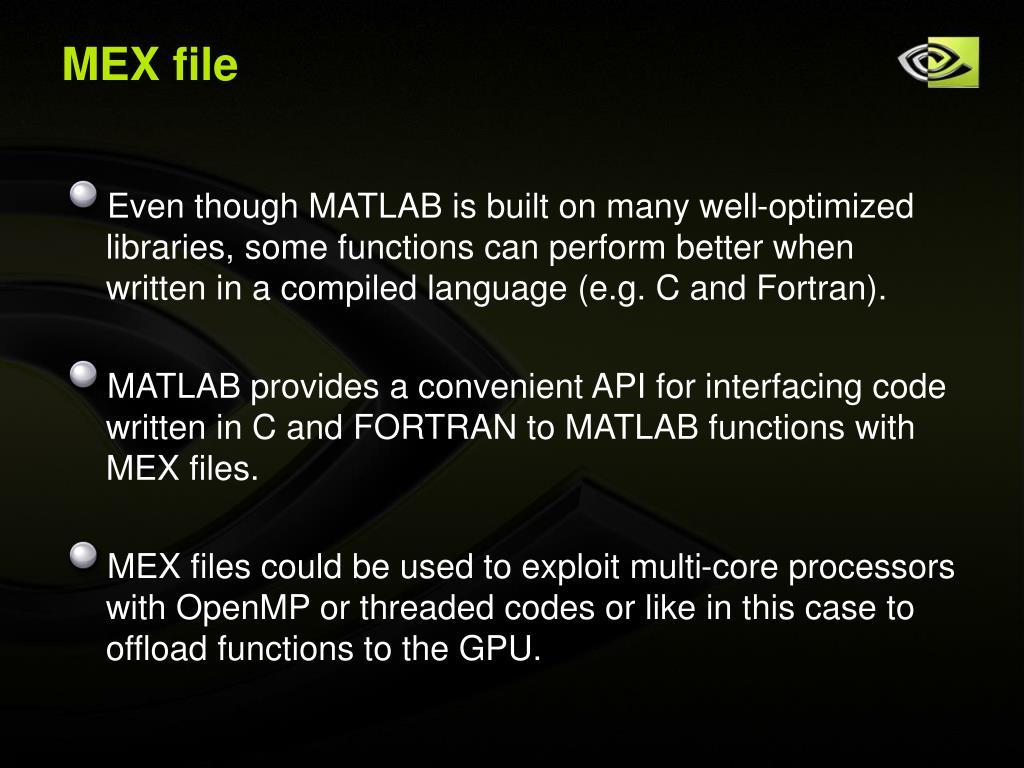 MEX file