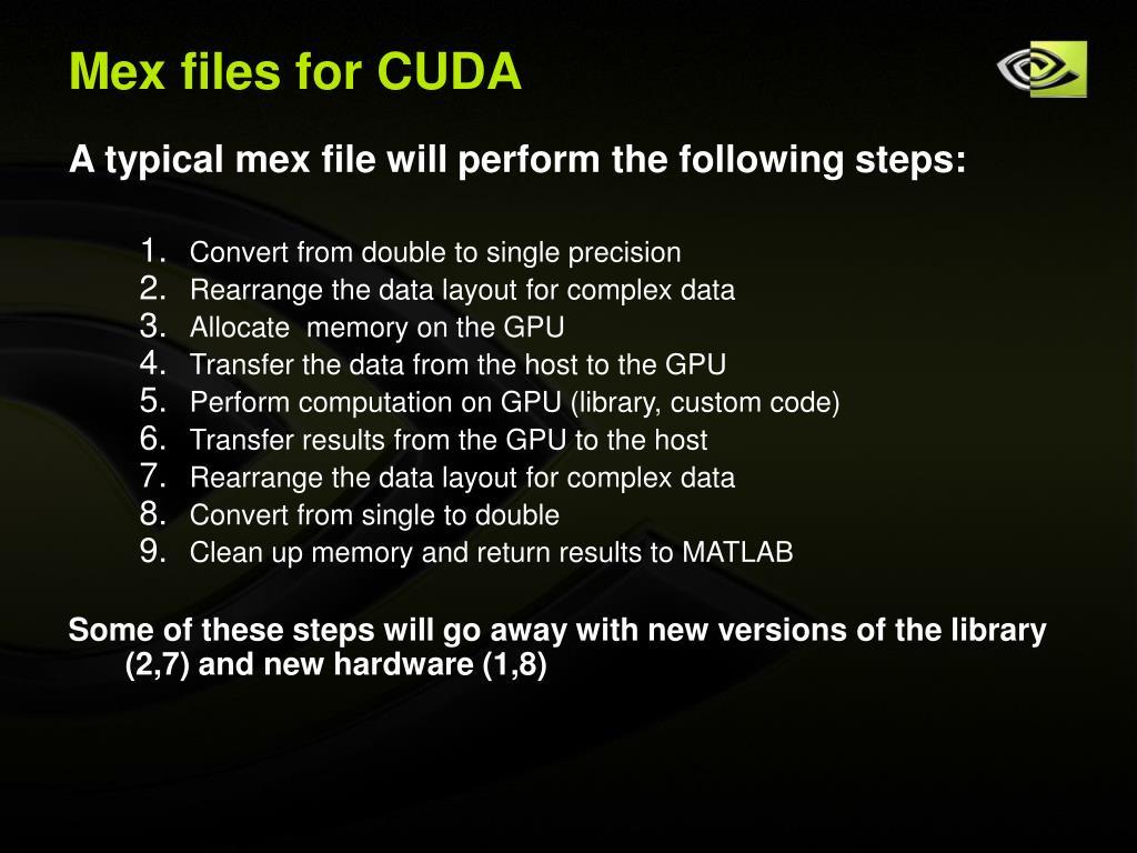 Mex files for CUDA
