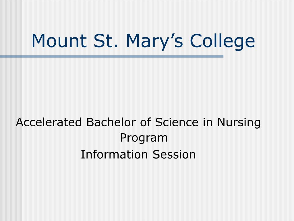 mount st mary s college l.