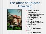 the office of student financing