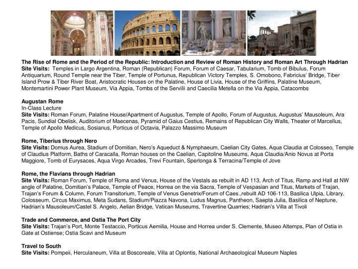 The Rise of Rome and the Period of the Republic: Introduction and Review of Roman History and Roman ...
