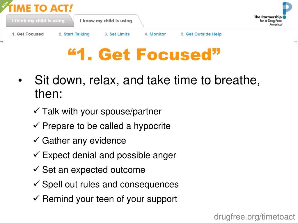 """""""1. Get Focused"""""""