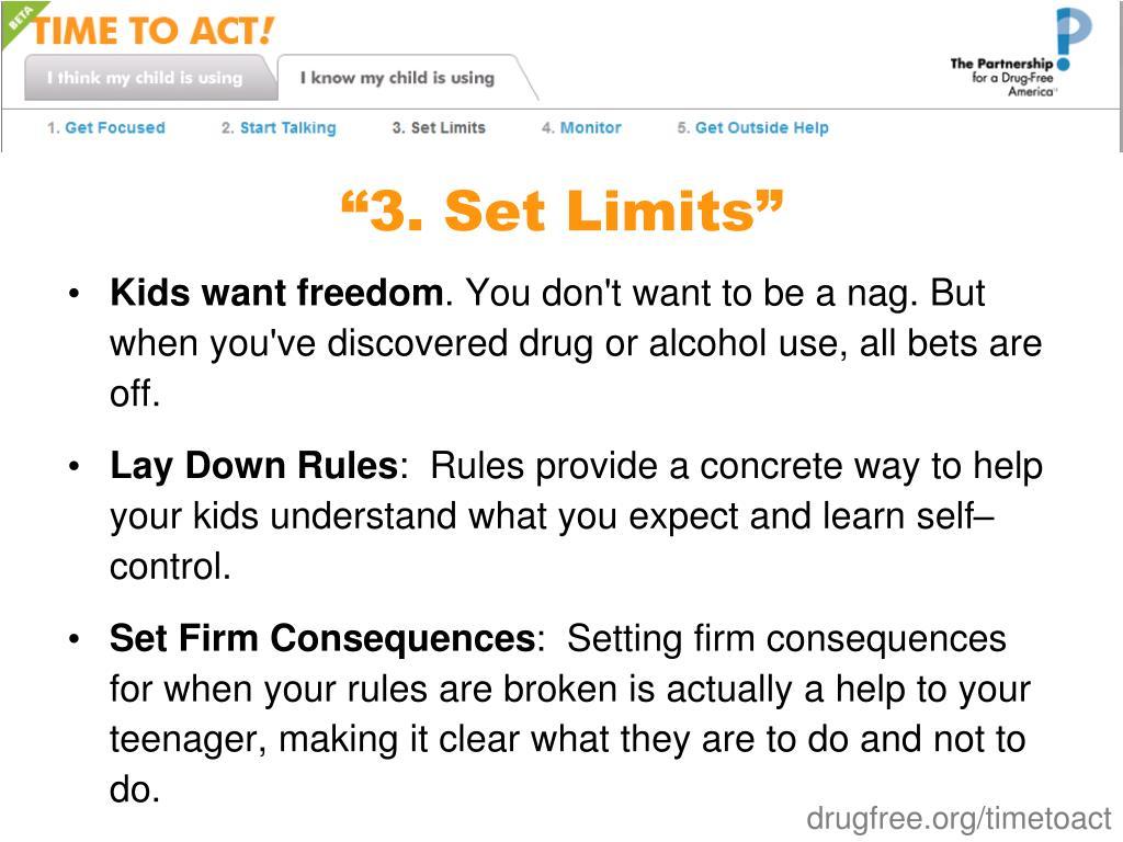"""3. Set Limits"""