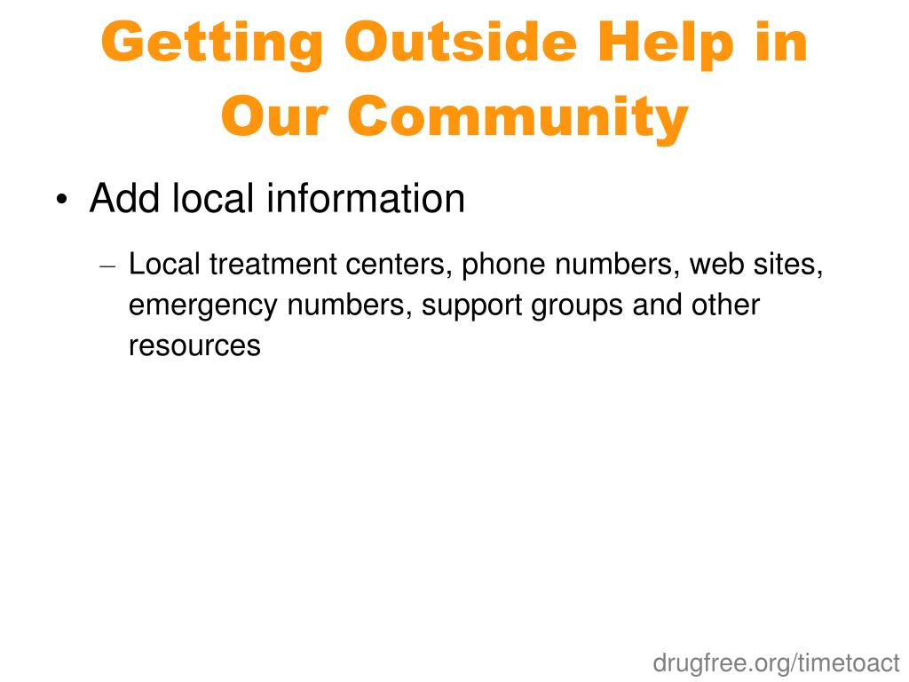 Getting Outside Help in Our Community