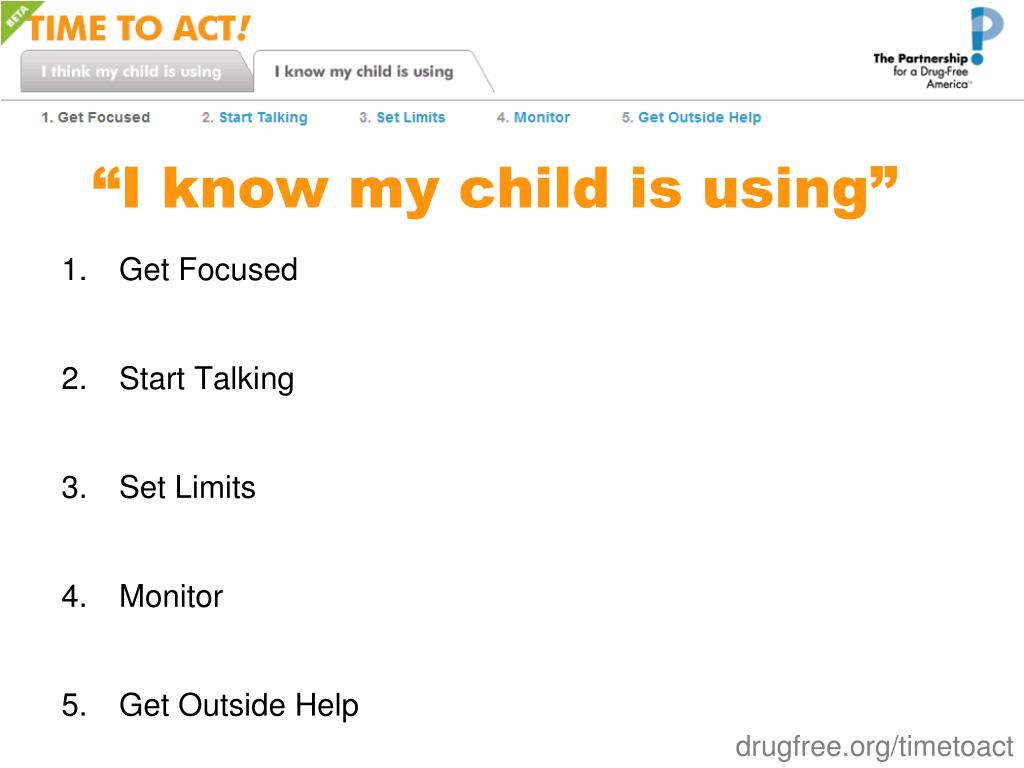 """""""I know my child is using"""""""
