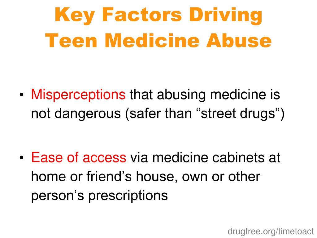 Key Factors Driving Teen Medicine Abuse