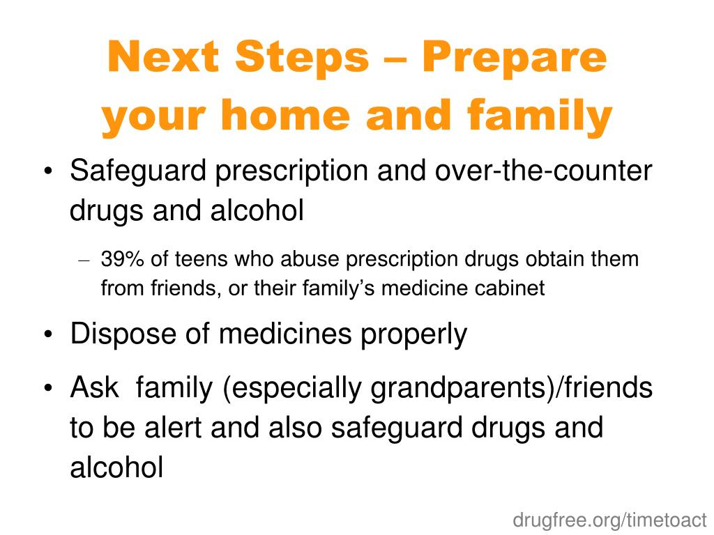 Next Steps – Prepare your home and family