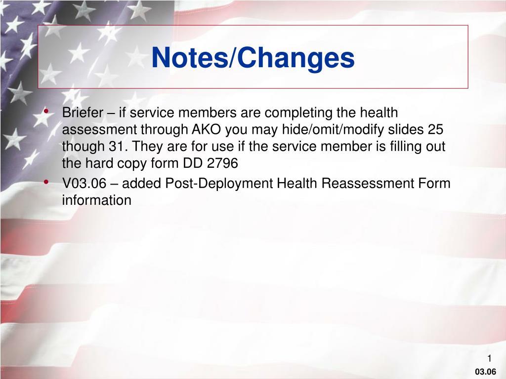 notes changes l.