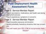 post deployment health assessment form28