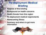 re deployment medical briefing