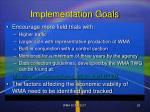 implementation goals26