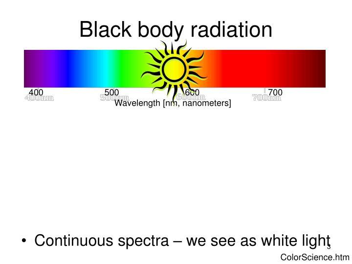 Black body radiation3