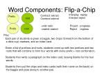 word components flip a chip25