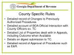 county specific rules34