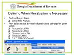 defining when revaluation is necessary