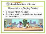 revaluation getting started