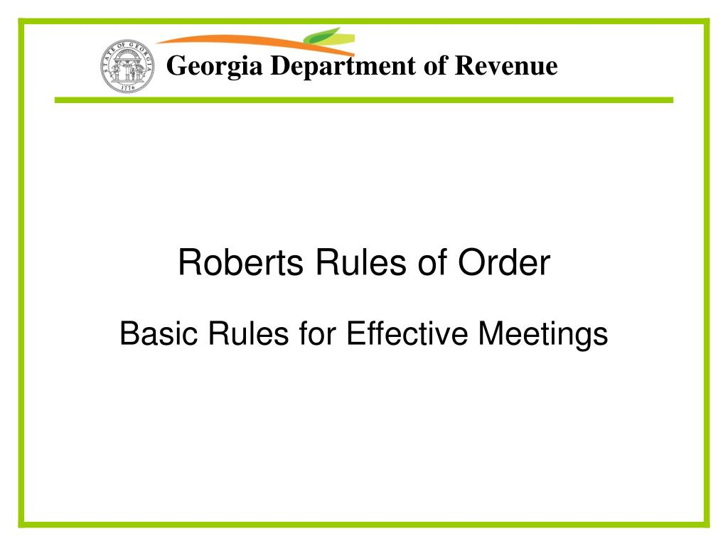 roberts rules of order l.