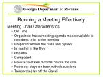 running a meeting effectively