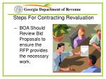 steps for contracting revaluation