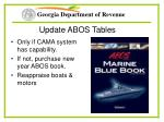 update abos tables