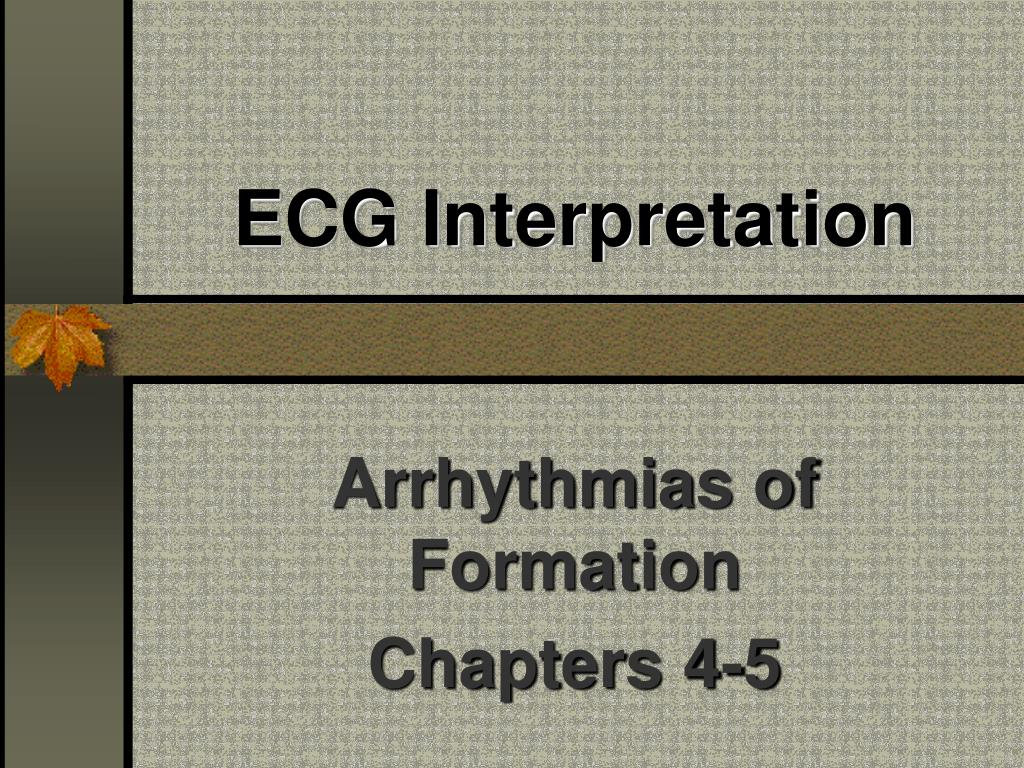 ecg interpretation l.