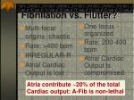 fibrillation vs flutter