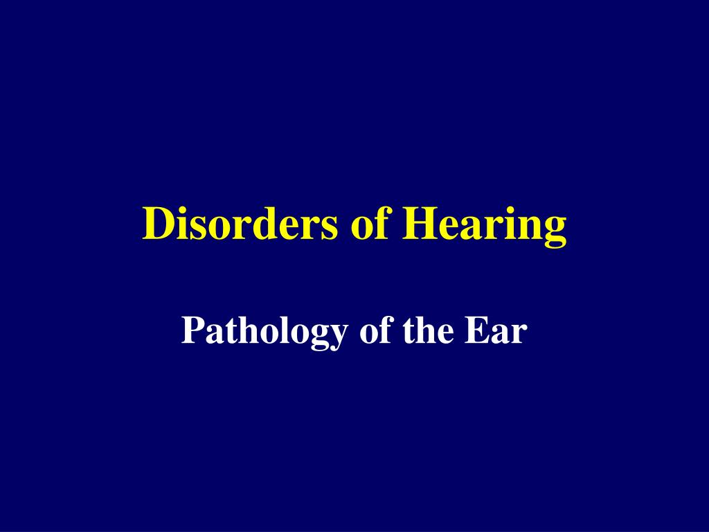 disorders of hearing l.