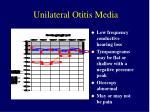 unilateral otitis media9