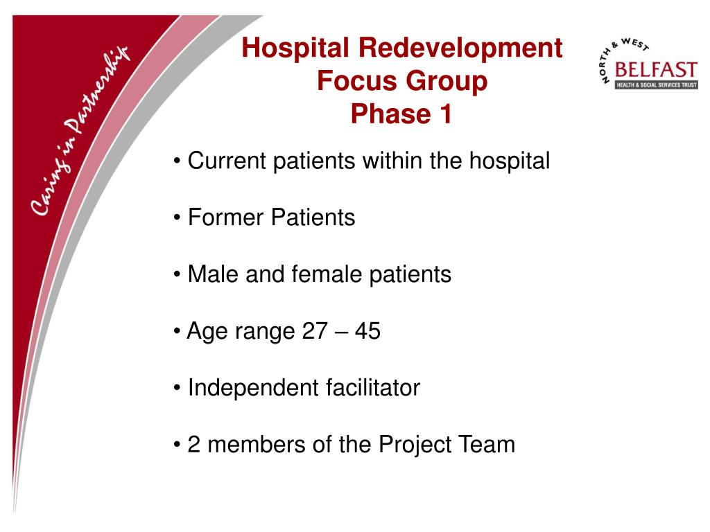 Hospital Redevelopment Focus Group