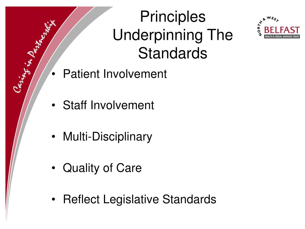 Principles Underpinning The Standards