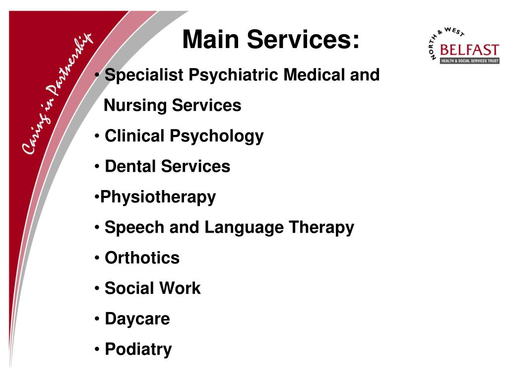 Main Services: