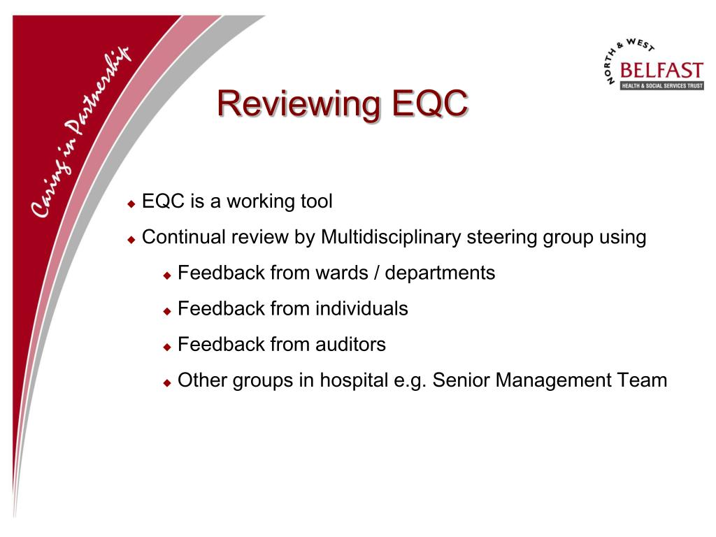 Reviewing EQC