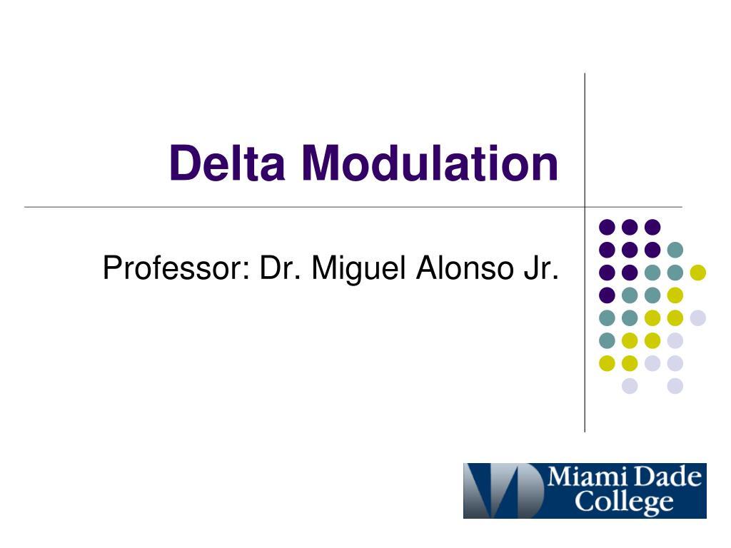 delta modulation l.