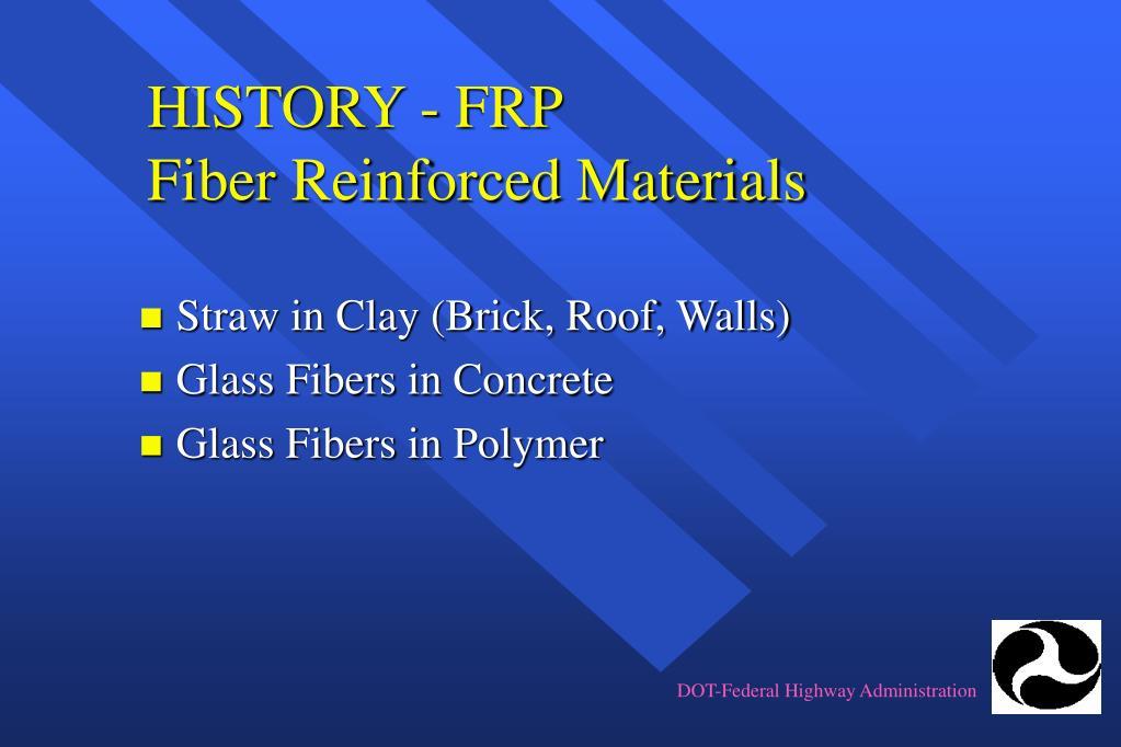 history frp fiber reinforced materials l.