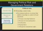 managing political risk and government relations14