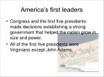 america s first leaders