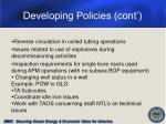 developing policies cont
