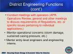 district engineering functions cont