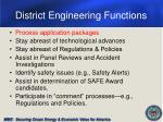district engineering functions