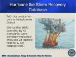 hurricane ike storm recovery database